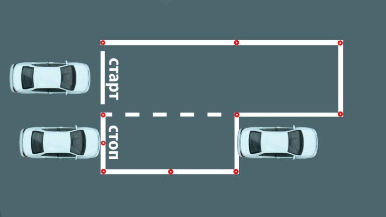 Как правильно сделать параллельную парковку на автодроме