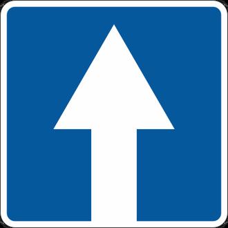 Обзор знака одностороннее движение