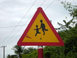 Подробно про знак осторожно дети